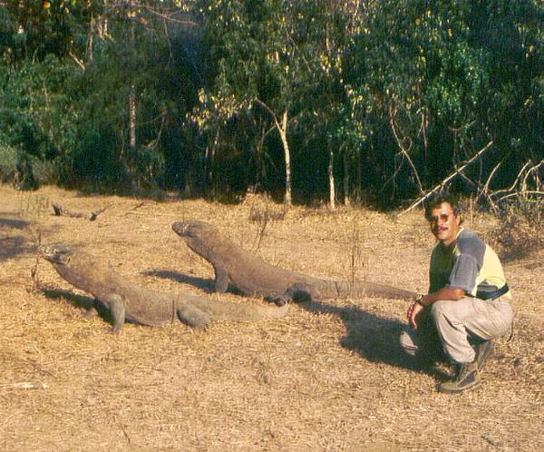 Indonesia, Komodo-Island, Komodo-Waranes and the Photographer